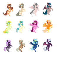 15 point pony adopts -CLOSED- by JustOurAdopts