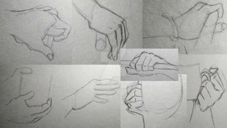 Hand Practice by LooneyArtist