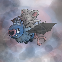 Swoobat and Cinccino