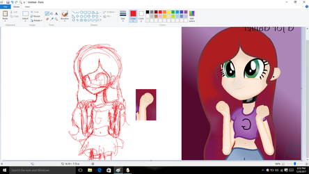 Redraw Of Old Drawing This Time Without Base W.I.P by FrozeyFox