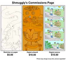 Commisson Prices by Shmuggly