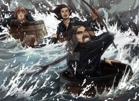 The Hobbit- BARREEEEEEEEEEEELS by Kibbitzer