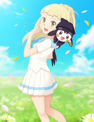 Commission: Lillie and Emonga by DaDonYordel