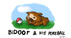 PKMN - Bidoof and his Pokeball