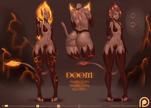 Doom character sheet by DoomXWolf