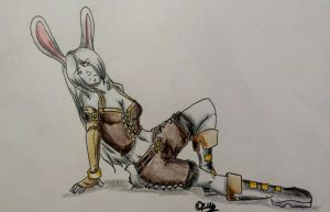 Blade Bunny Commission by lady-freya