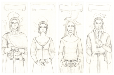 The Four Founders sketch by Achen089