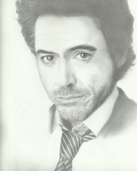 charcoal portrait: robert downey jr. by eymage