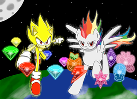 Super Sonic/Super Rainbow Dash: Chaos Harmony Ver. by MegaArtist923