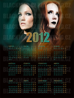 painted calendar 2012 by perlaque