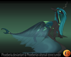 MLP AU Redesign: Queen Chrysalis by Phoeberia