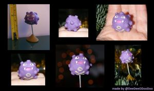 Mini Polymer Clay Koffing Pokemon