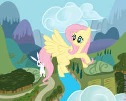 Sky High Fluttershy by remenescent