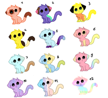 Inspired / Pastel  Adopts by ScribblyFandoms7