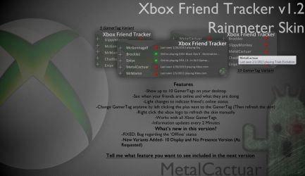 Xbox Friend Tracker v1.20 by MetalCactuar