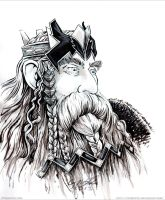 King Thror Inked Sketch by cfgriffith