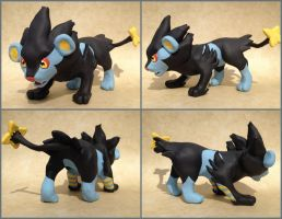 Luxray Sculpture-Alternate Views by LeiliaClay