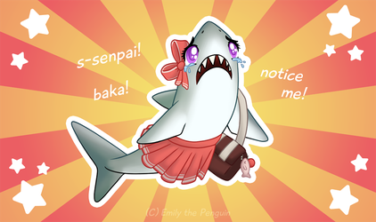 Tsundere Shark by Oomles