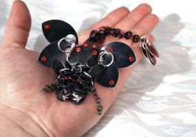 Black and Red Swarovski Crystal Dragon Hatchling by SilverHauntArmoury