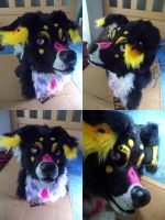 Paint Aussie fursuit head SOLD by AlieTheKitsune