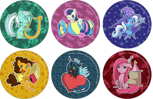 MLP Buttons - Various by Unu-Nunium