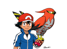 Ash and Talonflame