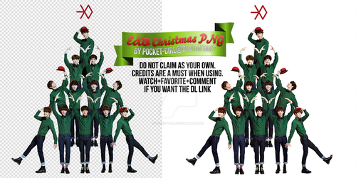 EXO: Miracle of December Christmas PNG Render by pocket-girl