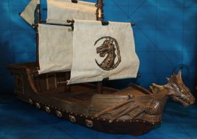 Mega bloks ship conversion Dragon Man o'war by MrVergee