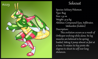 #029 Solocust Fakemon by Angel-Moonlightwolf