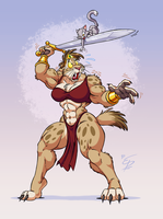 Konnie the Barbarian by eltonpot