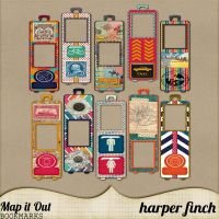 Map it Out Bookmarks by harperfinch