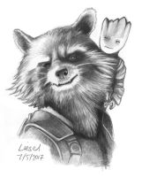 Guardians of the Galaxy - Rocket and Groot by FyreBirdi