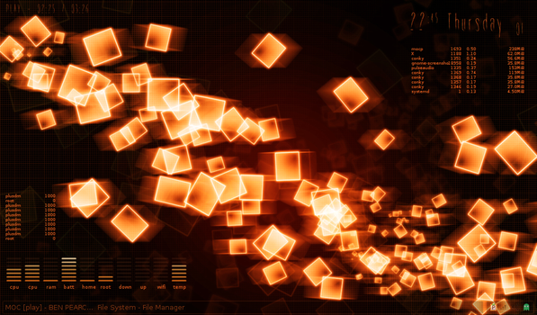 Orange Cubes by kralis-dm