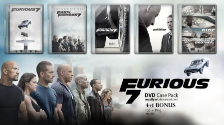 Furious 7 DVD Case Pack by MayFlyArt
