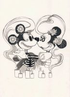 Inktober 2017 - Mickey and Minnie by Celiarts