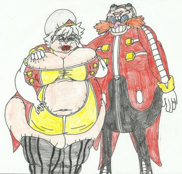 Eggman's new gilf wife chrissy by SHADOWLOUIX
