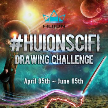 Huion Scifi Drawing Challenge Begins! by huion