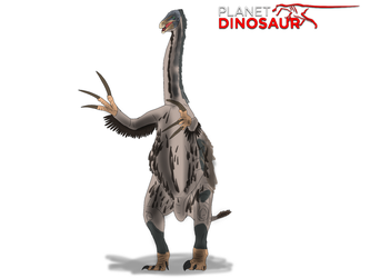 Planet Dinosaur- Therizinosaurus by Vespisaurus
