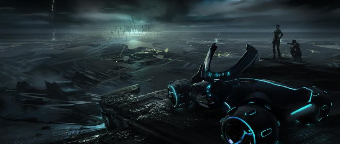 Tron Legacy Early Environment by vyle-art