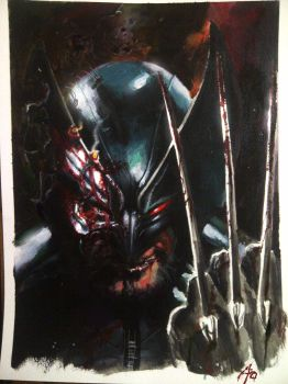 wolverine in acrylic by rudyao