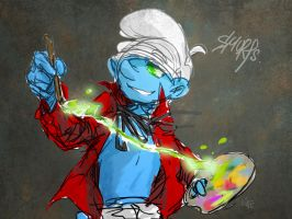 Painter Smurf test by ninevsnine