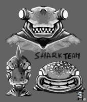 Shark Team by BrainBlueArts