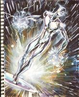 Sketch 04 : Silver Surfer by Cinar