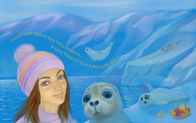 Salfi the Princess Kaikouri with the Seals by yellika
