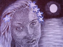 september drawalong in ballpoint pen by shirls-art