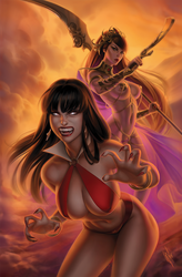 Vampirella / Dejah Thoris #1 by WarrenLouw
