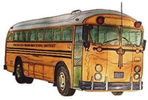 Crown Coach School Bus by zekesgraphics