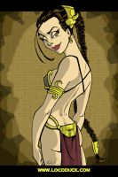 Slave Leia Goodness by Locoduck