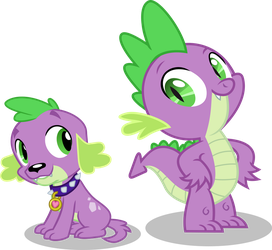 Spike and Spike by Vector-Brony