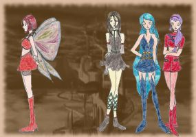 Winx- witches by cupcakedoll